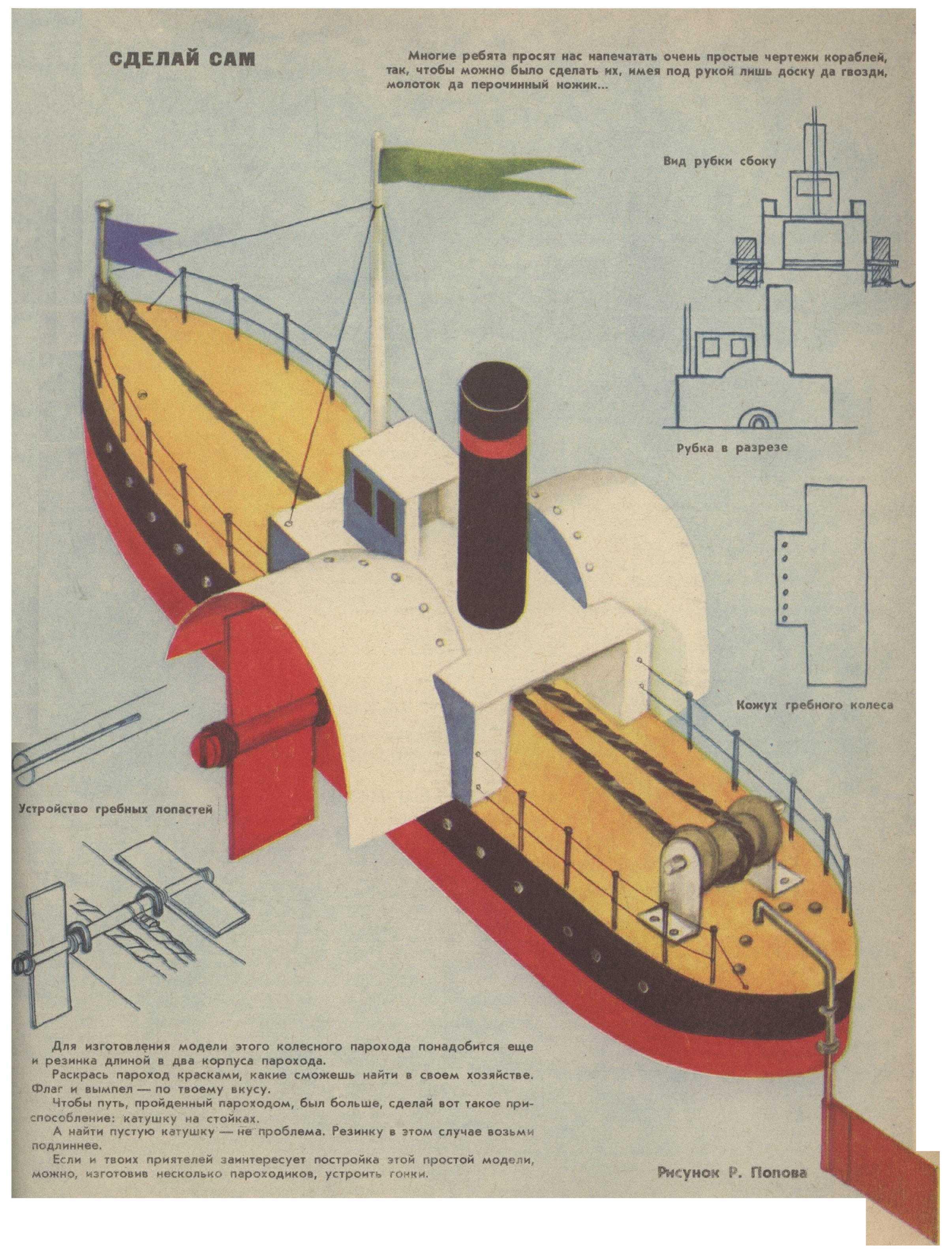 Колесный пароход своими руками 73
